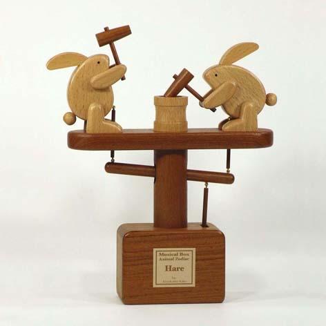 干支オルゴールウサギ2